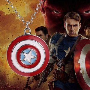 "Other - ""Captain America"" Shield Pendant Man's Necklace"
